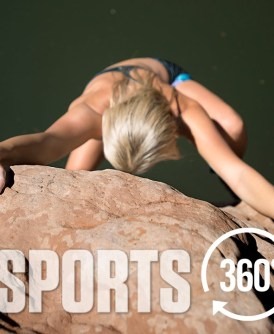 Video interactivo; Deep Water Solo con escaladora Sierra Blair-Coyle por Vice Sports