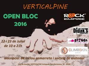 Open Bloc 2016 Sala de Boulder Verticalpine - Cataluña @ Sala de Boulder Verticalpine | Gurb | Cataluña | España