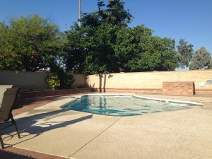 Love having a pool in our backyard.  It is still a little chilly for my tastes, but I dove in twice this weekend.