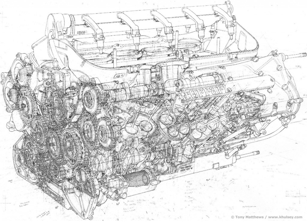 engine schematic blueprints