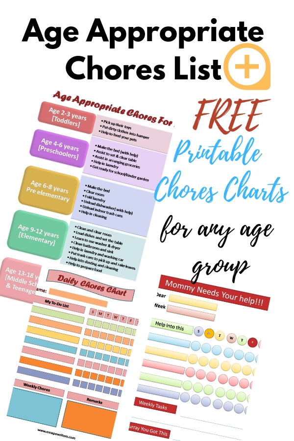 Complete List Of Age Appropriate Chores For Kids With Printable