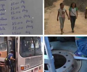 No nordeste, famílias deixam de comer para pagar combustível de ônibus escolar