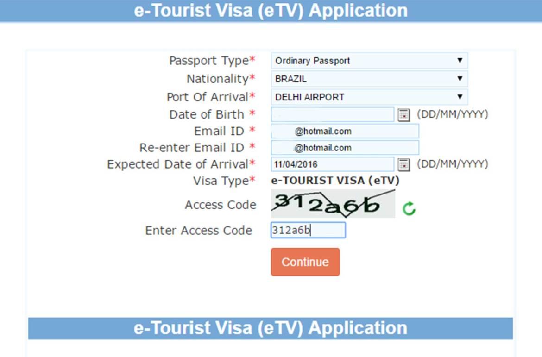 Como tirar visto de turismo para Índia