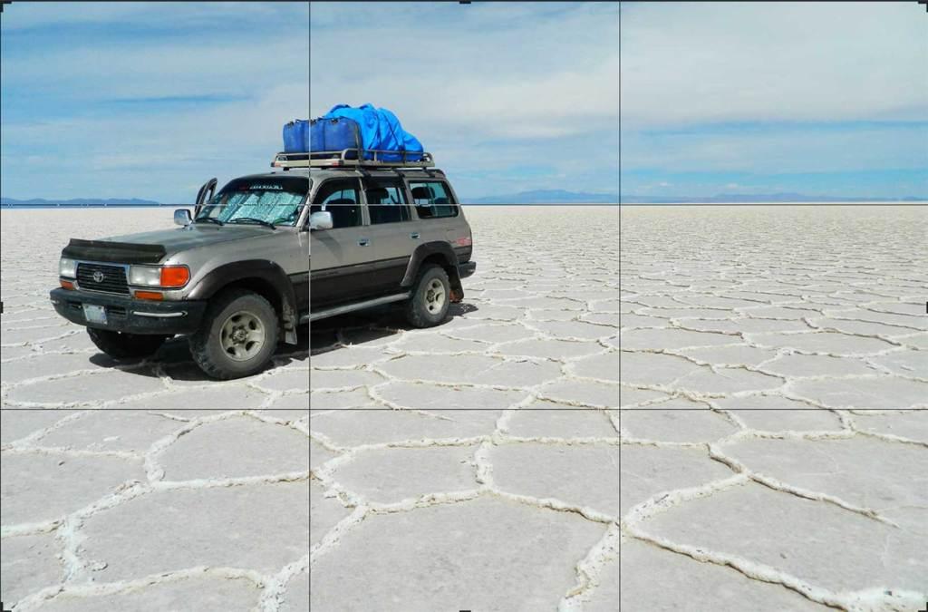 Como tirar boas fotos de viagem - Regra dos terços