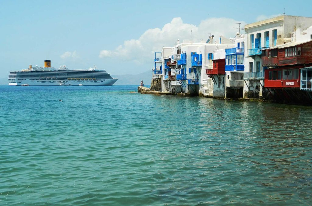 Quanto custa viajar para Grécia - 'Little Venice' da Ilha de Mykonos