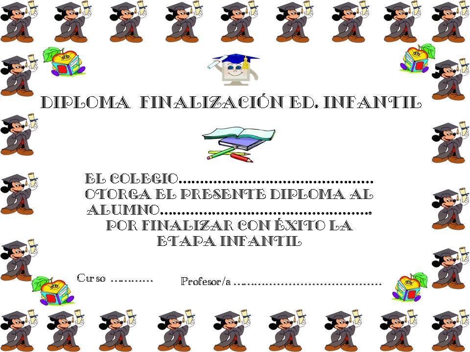 Diploma de Jardn de Nios Para Imprimir Gratis Graduacin