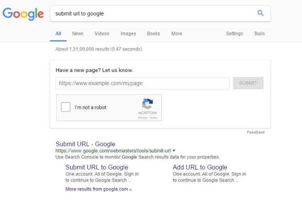 Google URL Indexing