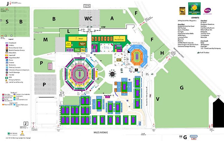 BNP Paribas Open Seating Guide eSeats