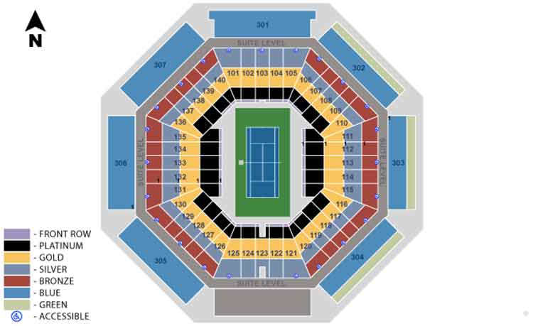 Rogers Cup Tennis Seating Guide eSeats
