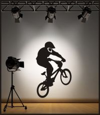 WALL ART BMX BIKE WALL STICKER / DECAL