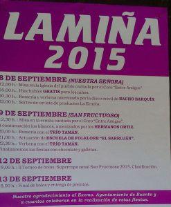 Cartel fiestas de Lamiña 2015