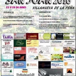 Cartel fiestas Villanueva de la Peña 2016