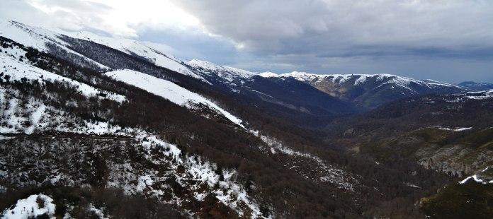 Monte Saja en invierno
