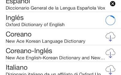 Diccionarios iOS 7 des