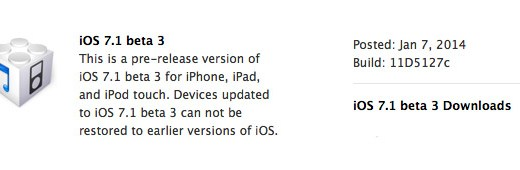 iOS 71 beta 3
