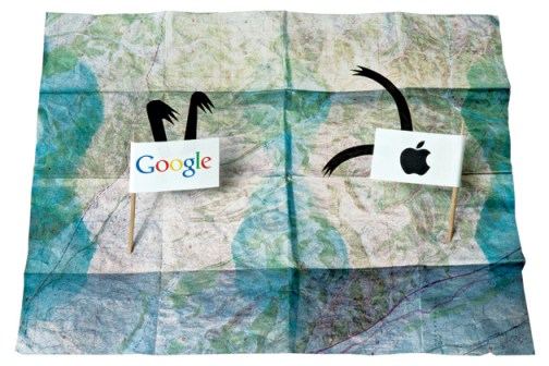 mapas Google Apple
