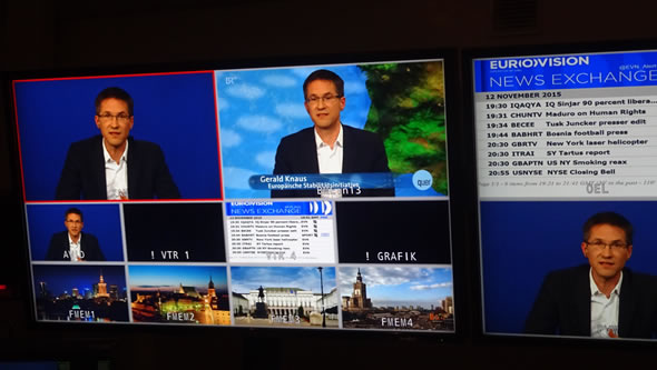 """Interview with Gerald Knaus on """"Quer"""". Photo: ESI"""