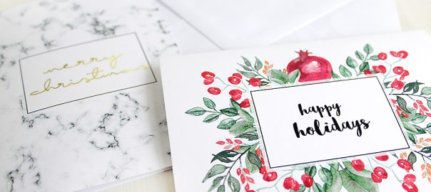 Free Printables two elegant printable Christmas cards » eskaa makes