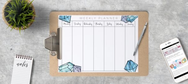 Free Printable weekly planner for 2017 » eskaa makes - Free Printable Weekly Planner