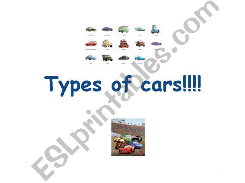 ESL - English PowerPoints Types of cars