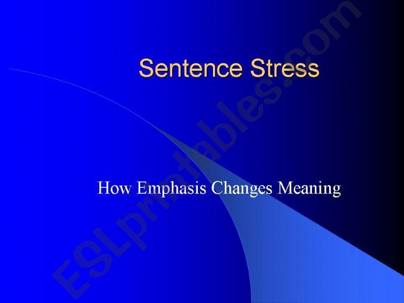 ESL - English PowerPoints Sentence Stress