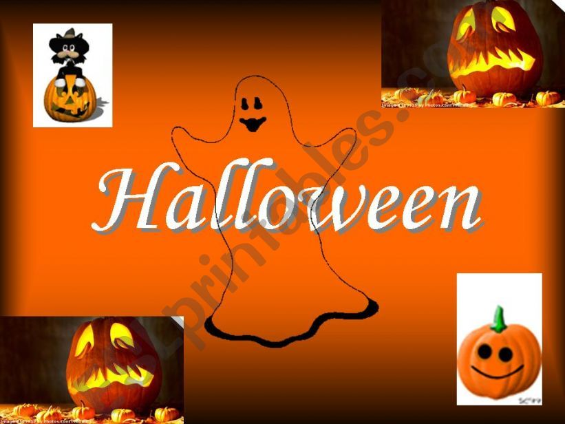 ESL - English PowerPoints Halloween - Booooo )