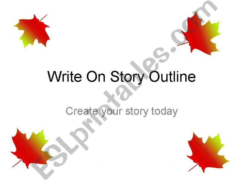 ESL - English PowerPoints Write on Story Outline
