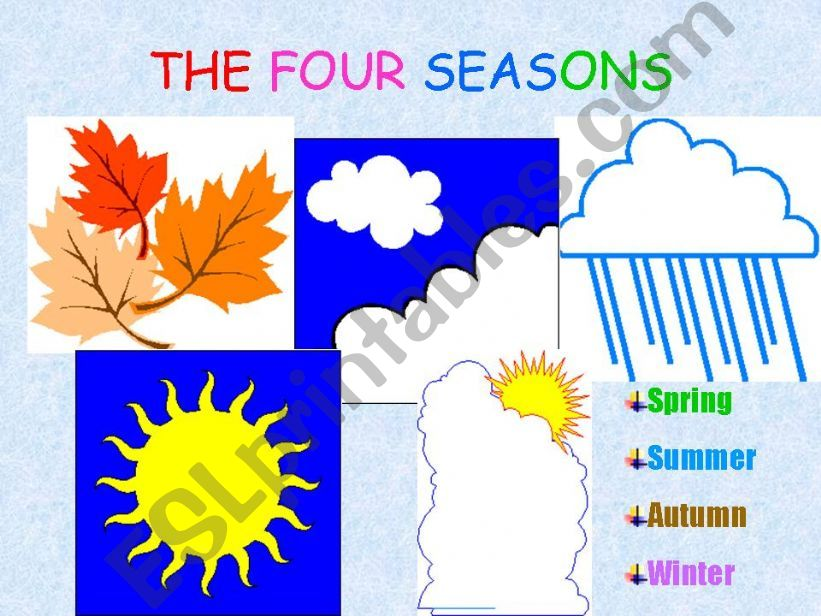 ESL - English PowerPoints The 4 Seasons