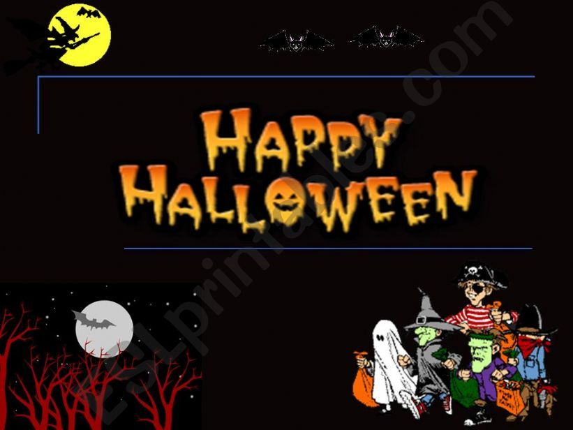ESL - English PowerPoints Halloween