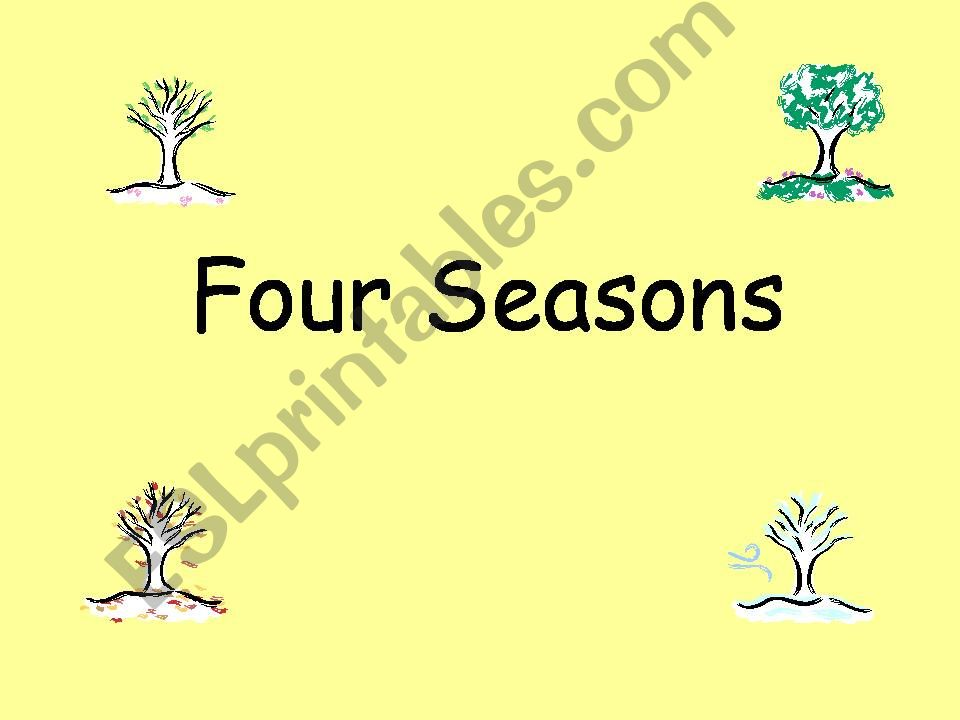 ESL - English PowerPoints four seasons