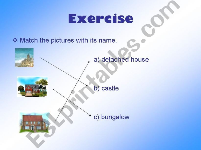 ESL - English PowerPoints Houses-different types
