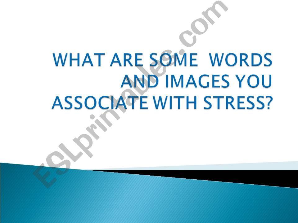 ESL - English PowerPoints stress