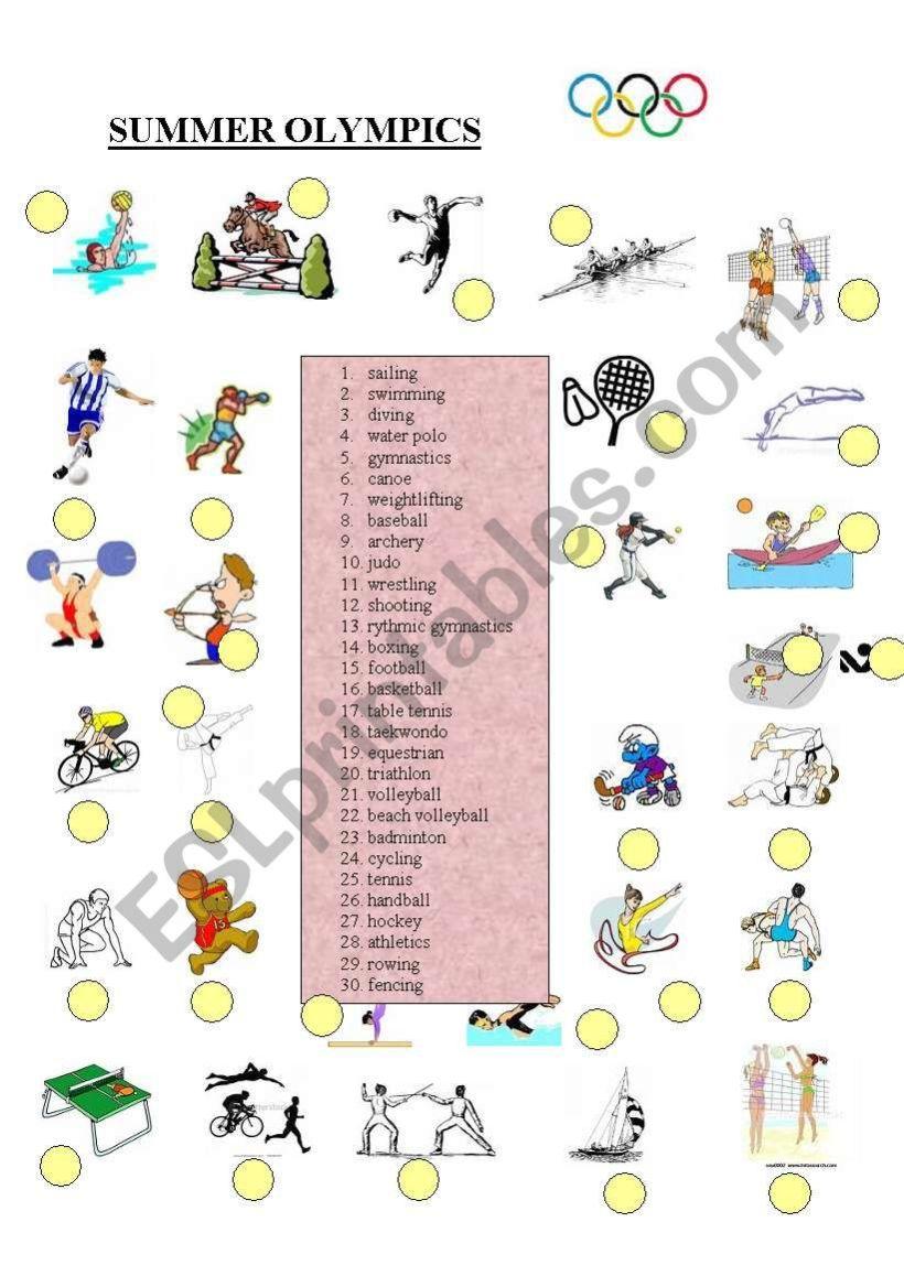 Sports Worksheets Pdf Images Super Teacher Worksheets English