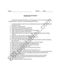 English worksheets: October Sky Worksheet