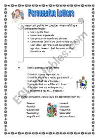 Persuasive Letters - ESL worksheet by Maltese primary teacher