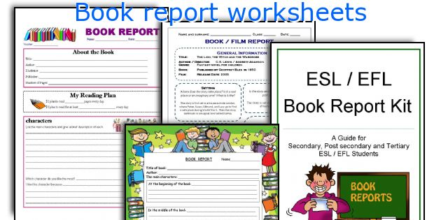 English teaching worksheets Book report - printable book report forms