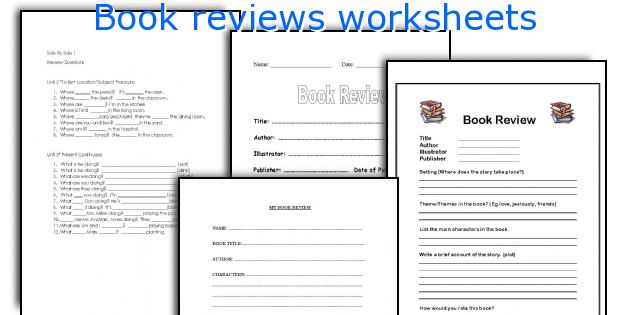English teaching worksheets Book reviews - printable book review template
