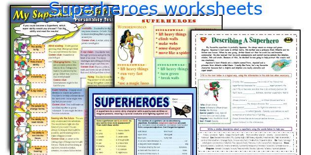 Printables Superhero Teacher Worksheets Lemonlilyfestival
