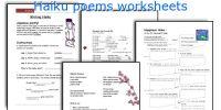 Haiku poems worksheets