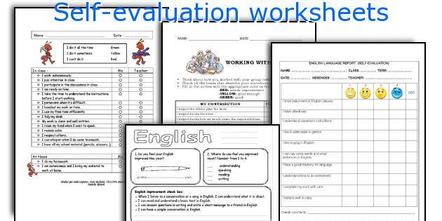 English teaching worksheets Self-evaluation - self evaluations