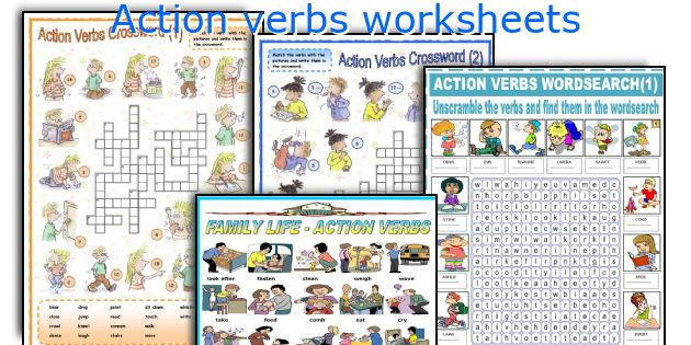 English Teaching Worksheets Action Verbs