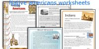 English teaching worksheets: Native americans