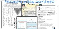 English teaching worksheets: Persuasive writing