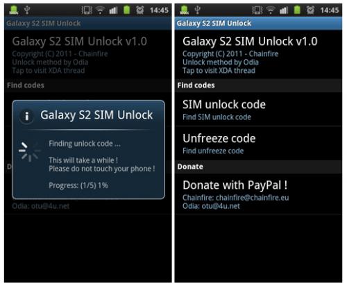 Desbloquea tu Samsung Galaxy S II con SIM Unlock Code Finder App