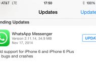 WhatsApp es actualizado con soporte para los nuevos iPhone 6 y 6 Plus