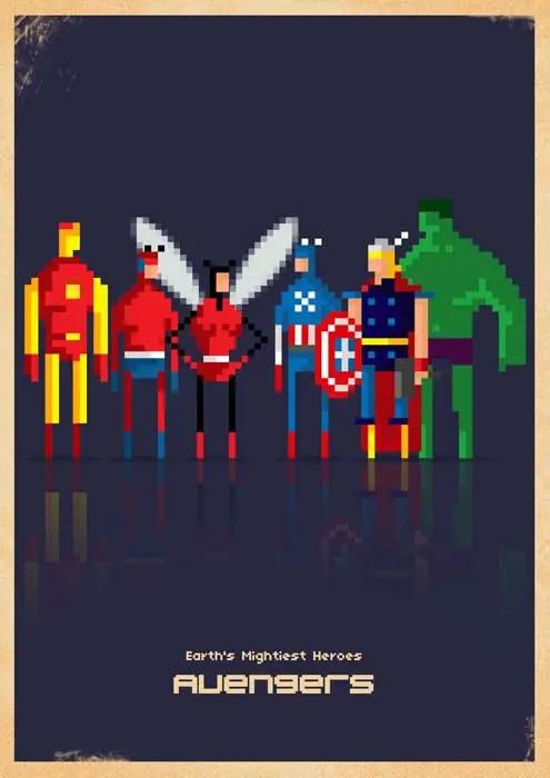 Iphone Wallpaper Maker Fondos De Pantalla Para Iphone De Un Universo Marvel Pixelado