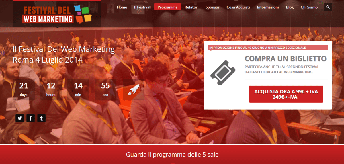 Festival del Web marketing: Ecco il programma