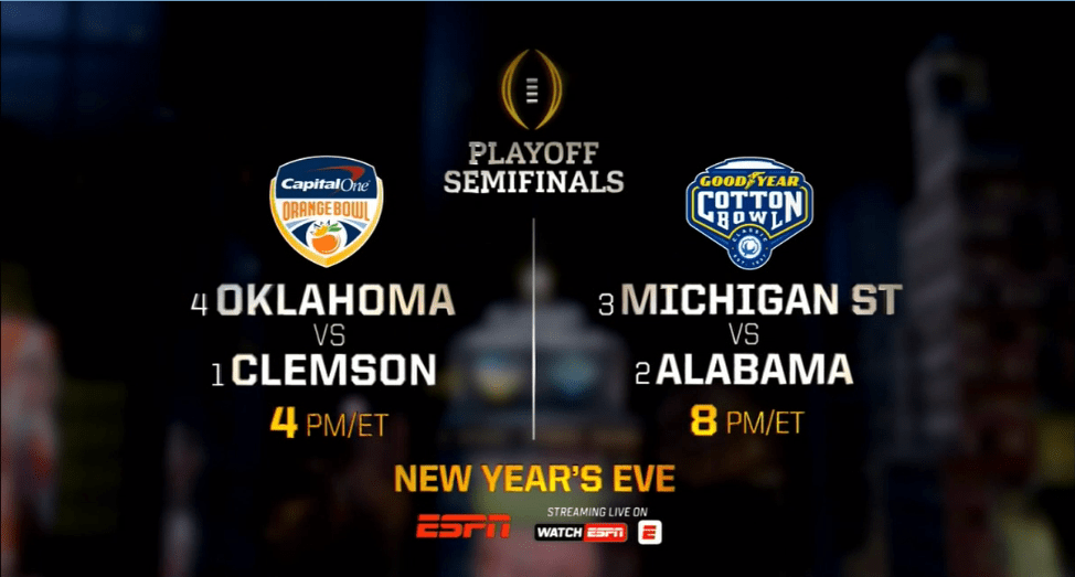 2015 college national championship espn ncaaf schedule