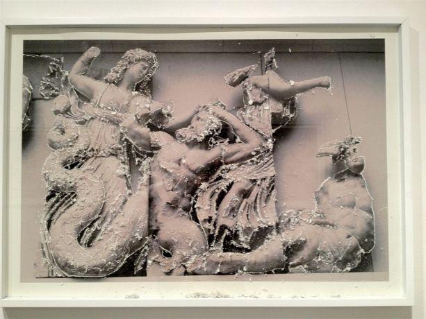 Rovine Pergamo 3, 2012 stampa fotografica su carta d'Amalfi e tecnica mista cm. 75x107
