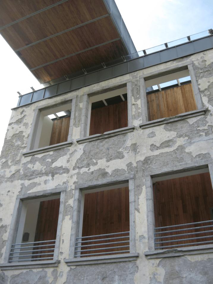 DC Next - Casso - cavedio in facciata. Foto: Simone Osta